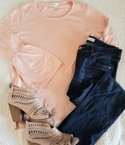 Calvin Klein | blush bell sleeve sweater
